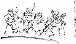 Roman Izdebski's sketch of the Quartet