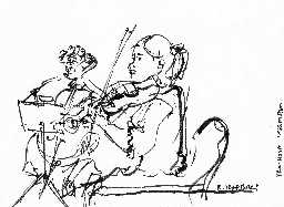 R Izdebski's sketch of Audrey and Robin